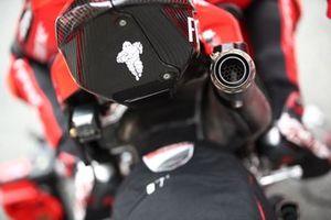 Detalle de la moto de Ducati Team MotoGP