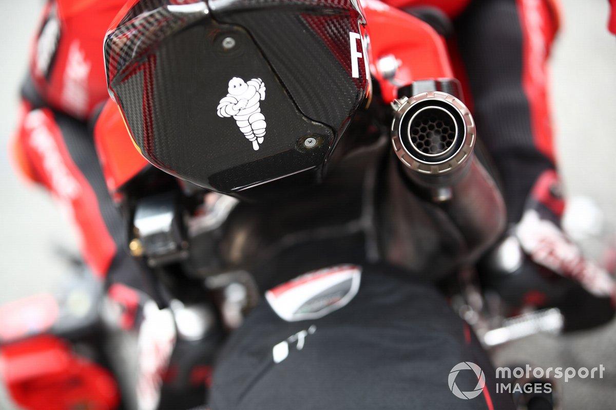 Dettaglio della moto del Ducati Team, MotoGP