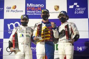 Podio: Simone Iaquinta, Dinamic Motorsport, Alberto Cerqui, Team Q8 Hi Perform e Gianmarco Quaresmini, Tsunami RT