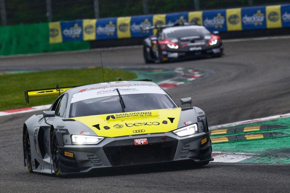 #12 Audi Sport Italia, Audi R8 LMS GT3 Evo: Riccardo Agostini, Lorenzo Ferrari