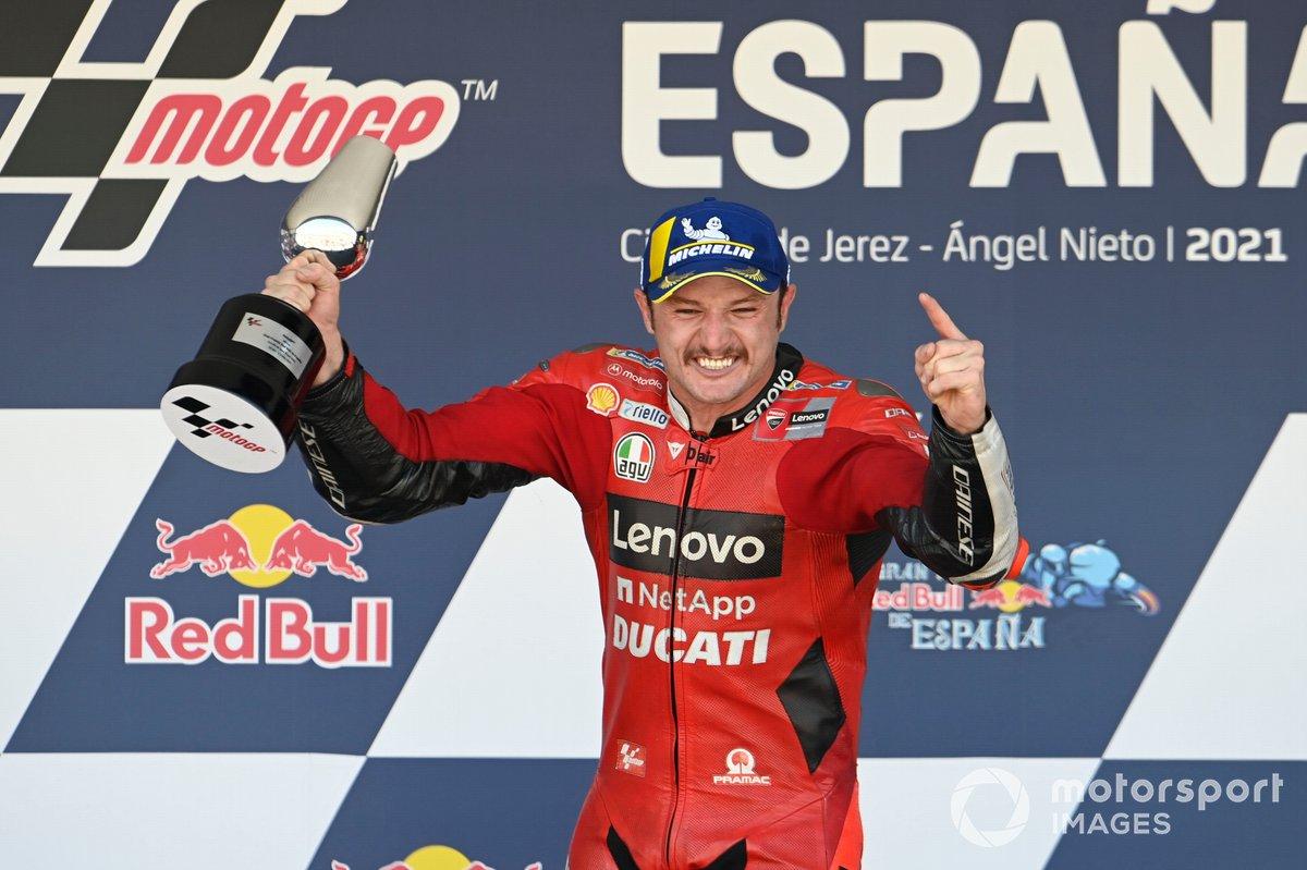 Podio: il vincitore Jack Miller, Ducati Team