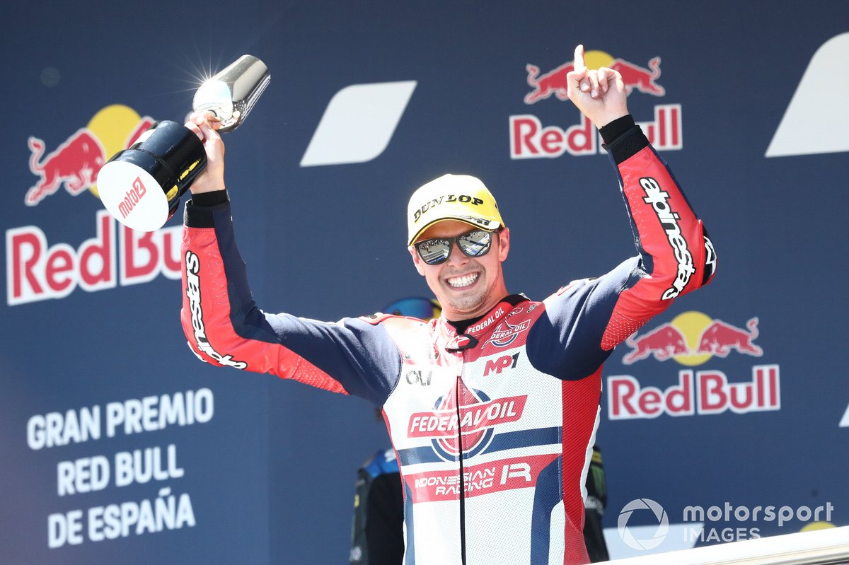 Podio: ganador de la carrera, Fabio di Giannantonio, Federal Oil Gresini Moto2