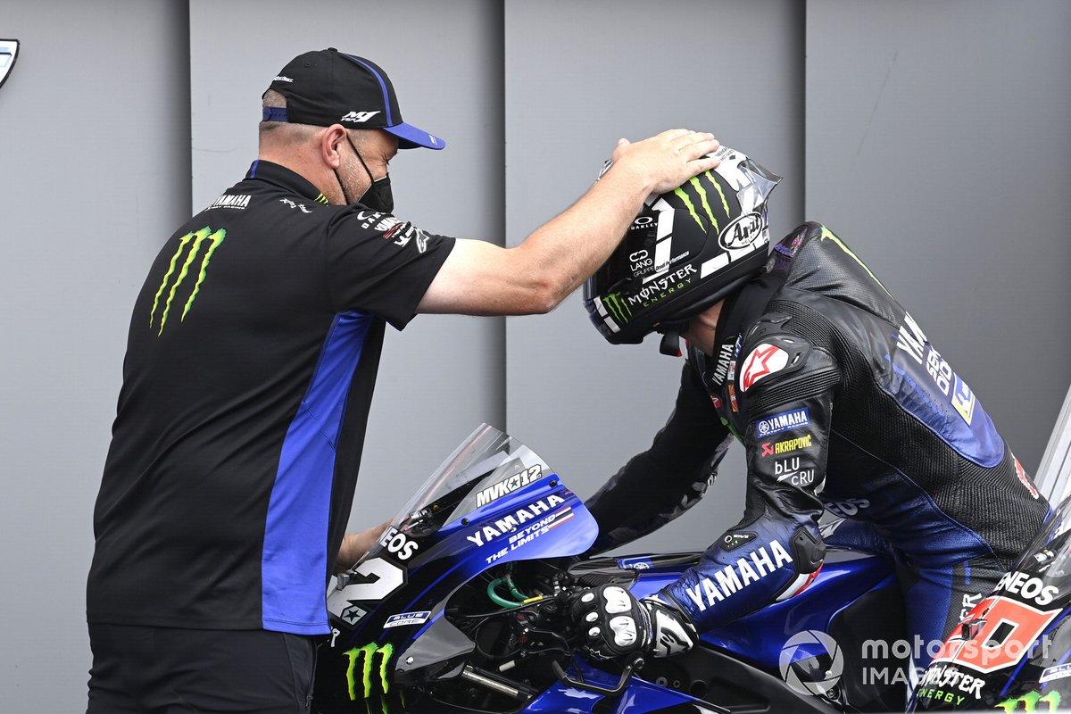 Ganador de la pole Maverick Viñales, Yamaha Factory Racing, Moto2