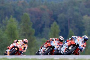 Andrea Dovizioso, Ducati Team, Jorge Lorenzo, Ducati Team, Marc Marquez, Repsol Honda Team