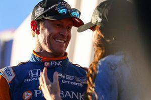 Scott Dixon, Chip Ganassi Racing Honda, with wife, Emma