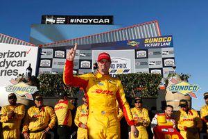 Ryan Hunter-Reay, Andretti Autosport Honda fête sa victoire sur la Victory Lane