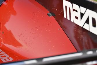 #77 Mazda Team Joest Mazda DPi, P - Oliver Jarvis, Tristan Nunez blisters on engine cover