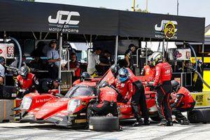 #99 JDC/Miller Motorsports ORECA 07, P - Stephen Simpson, Mikhail Goikhberg, pit stop
