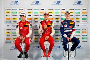 Press conference, Marcus Armstrong, PREMA Theodore Racing Dallara F317 - Mercedes-Benz, Mick Schumacher, PREMA Theodore Racing Dallara F317 - Mercedes-Benz, Robert Shwartzman, PREMA Theodore Racing Dallara F317 - Mercedes-Benz