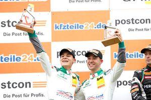Podium: second place #28 Montaplast by Land-Motorsport Audi R8 LMS: Sheldon van der Linde, Kelvin van der Linde