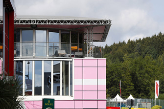 The Force India hospitality unit in the paddock