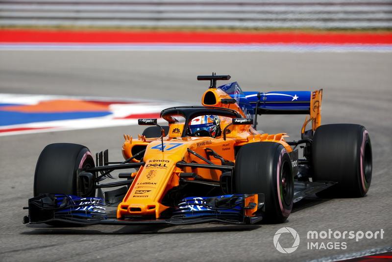 Lando Norris a participé aux EL1 de F1 avec McLaren