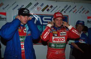 Eddie Irvine, Jordan and Rubens Barrichello, Jordan