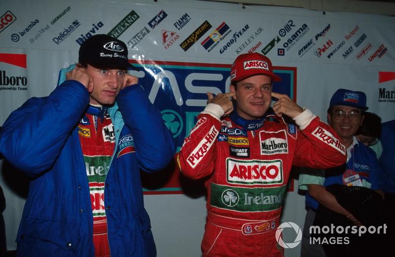Eddie Irvine e Rubens Barrichello, Jordan