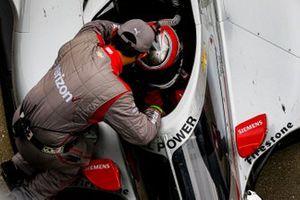 Will Power, Team Penske Chevrolet celebrates winning the Harvest GP Race 2