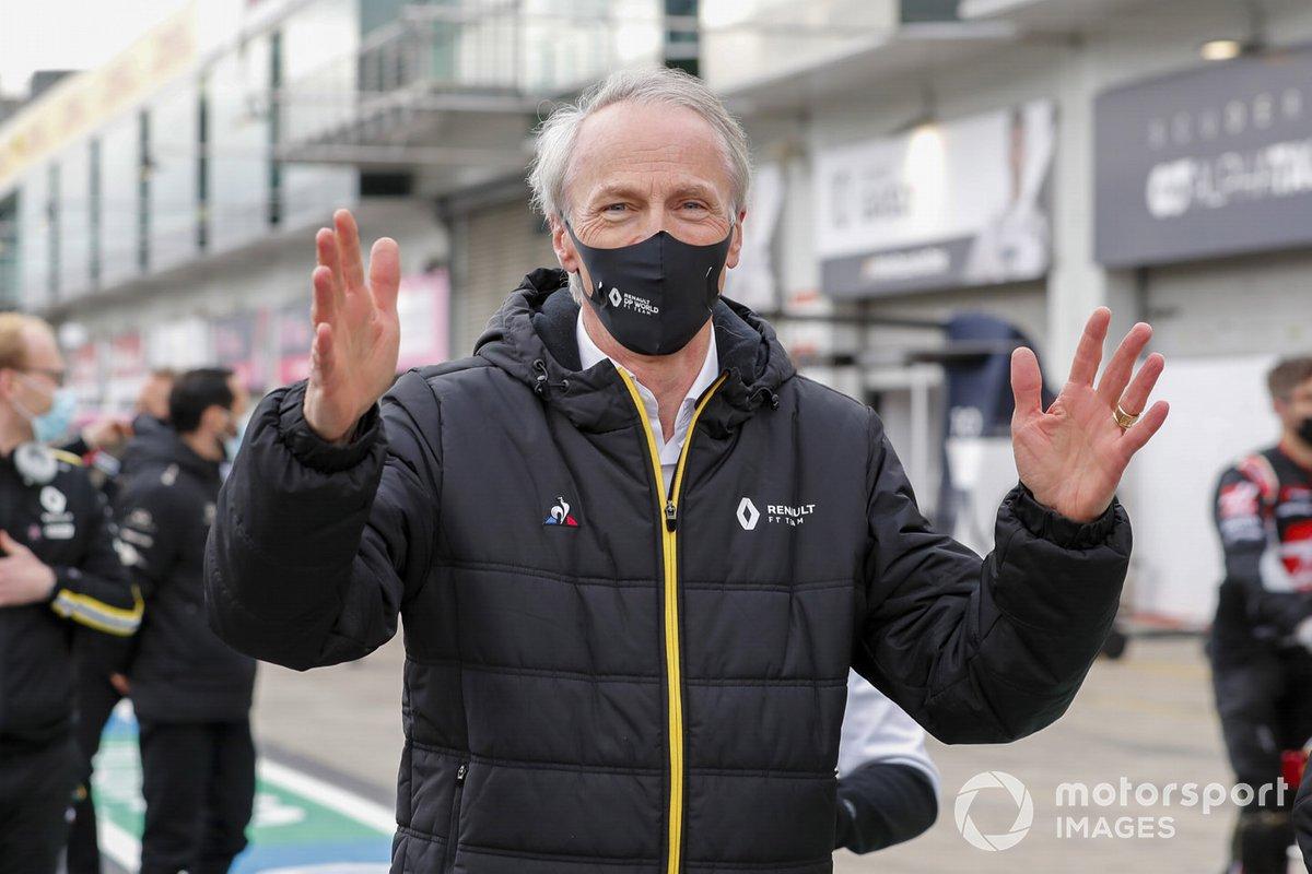 Jean-Dominique Senard,Chairman of Renault, celebrates the 3rd place finish of Daniel Ricciardo, Renault F1