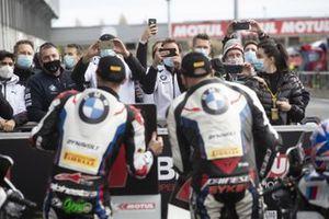 Eugene Laverty, BMW Motorrad WorldSBK Team, Tom Sykes, BMW Motorrad WorldSBK Team take 1-2 in Super Pole
