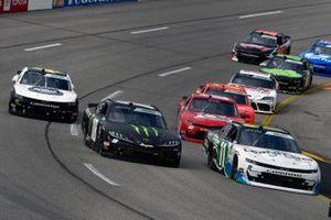 Justin Haley, Kaulig Racing, Chevrolet Camaro LeafFilter Gutter Protection and Riley Herbst, Joe Gibbs Racing, Toyota Supra Monster Energy
