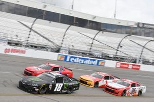 Riley Herbst, Joe Gibbs Racing, Toyota Supra Monster Energy Alex Labbe, DGM Racing, Chevrolet Camaro Larue/Rousseau