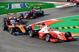 Logan Sargeant, Prema Racing, Alexander Peroni, Campos Racing and Frederik Vesti, Prema Racing