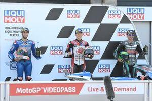 Alex Rins, Team Suzuki MotoGP, Takaaki Nakagami, Team LCR Honda, Franco Morbidelli, Petronas Yamaha SRT
