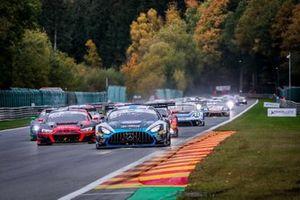 #88 Mercedes-AMG Team AKKA ASP Mercedes-AMG GT3: Raffaele Marciello, Timur Boguslavskiy, Felipe Fraga leads