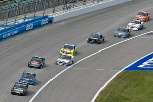 Christian Eckes, Kyle Busch Motorsports, Toyota Tundra Safelite AutoGlass and Todd Gilliland, Front Row Motorsports, Ford F-150 Speedco