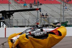 Bergung des Unfallautos von Marco Andretti, Andretti Herta with Marco & Curb-Agajanian Honda