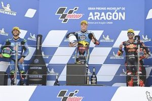 Podium: race winner Sam Lowes, Marc VDS Racing, second place Enea Bastianini, Italtrans Racing Team, third place Jorge Martin, Red Bull KTM Ajo