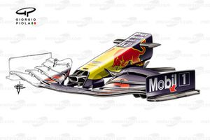 Red Bull Racing RB16 front wing end plate detail