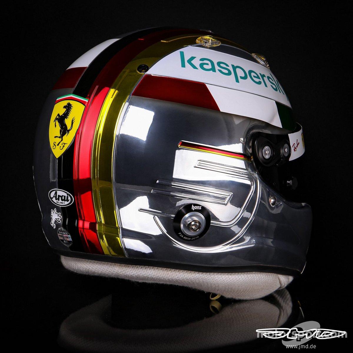 Sebastian Vettel, casco para el GP de Italia