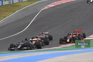 Lewis Hamilton, Mercedes F1 W11, Lando Norris, McLaren MCL35, Max Verstappen, Red Bull Racing RB16, Kimi Raikkonen, Alfa Romeo Racing C39, e Charles Leclerc, Ferrari SF1000