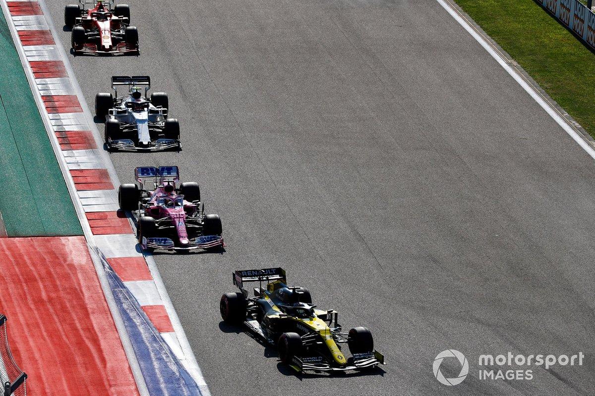 Daniel Ricciardo, Renault F1 Team R.S.20, Sergio Pérez, Racing Point RP20, Pierre Gasly, AlphaTauri AT01, Charles Leclerc, Ferrari SF1000