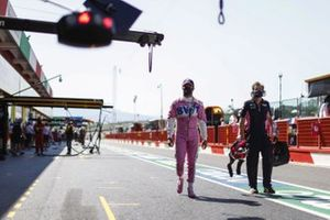 Sergio Perez, Racing Point, in the pit lane