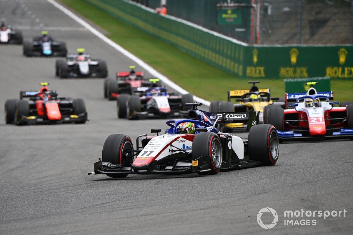 Louis Deletraz, Charouz Racing System, Robert Shwartzman, Prema Racing, Guanyu Zhou, UNI-Virtuosi, and Pedro Piquet, Charouz Racing System
