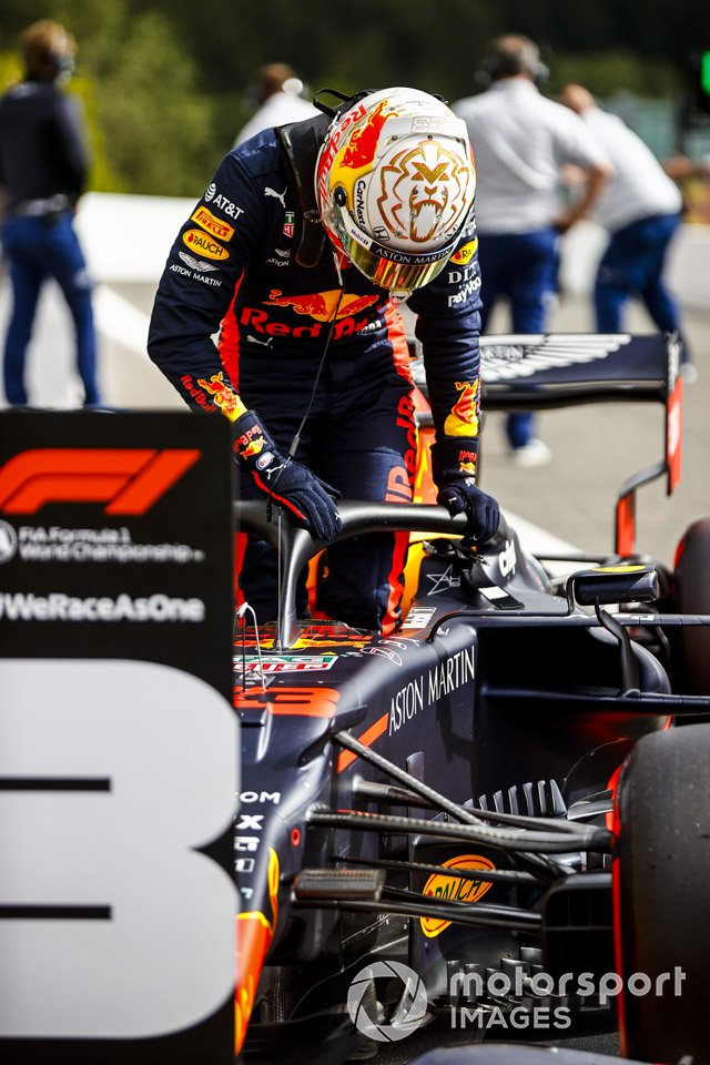 Max Verstappen, Red Bull Racing nel parco chiuso