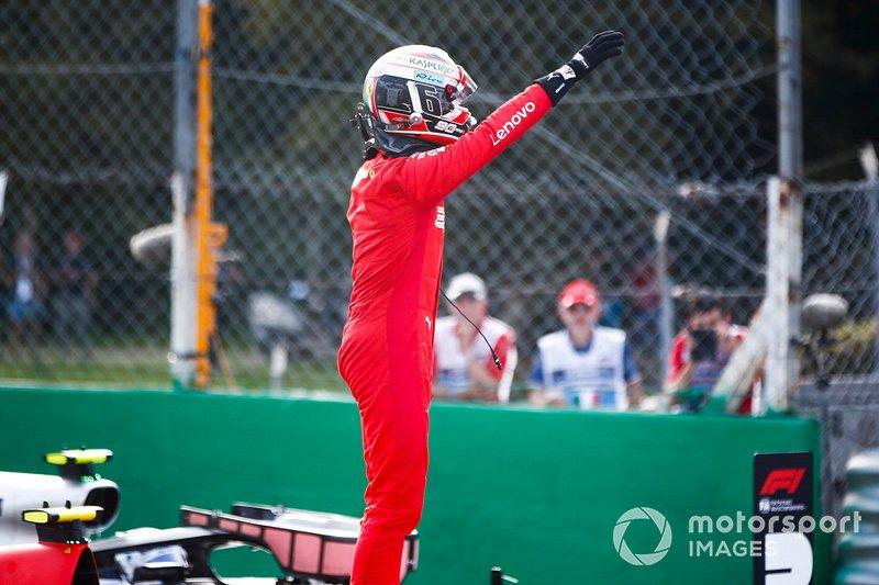 Polesitter Charles Leclerc, Ferrari SF90