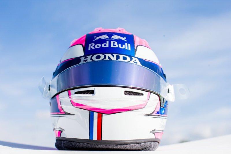 Helm van Pierre Gasly, Toro Rosso, Italie