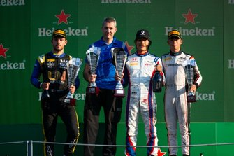 Nobuharu Matsushita, Carlin, Nyck De Vries, ART Grand Prix and Luca Ghiotto, UNI Virtuosi Racing
