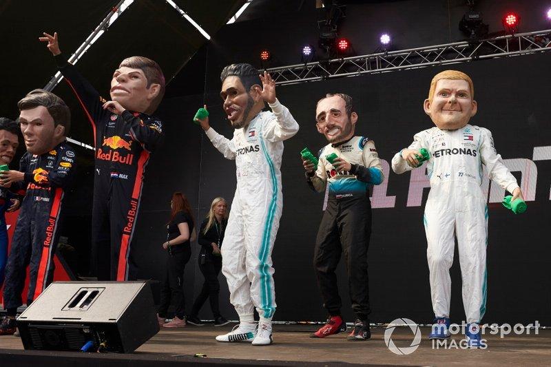 Pierre Gasly, Red Bull Racing, Max Verstappen, Red Bull Racing, Lewis Hamilton, Mercedes AMG F1, Robert Kubica, Williams Racing, Valtteri Bottas, Mercedes AMG F1, karikatürleri
