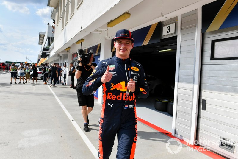 Pole man Max Verstappen, Red Bull Racing