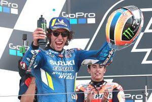 Podium : le vainqueur Alex Rins, Team Suzuki MotoGP