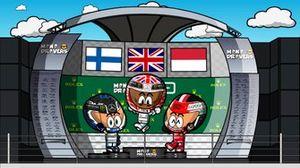 El GP de Gran Bretaña de F1, según MiniDrivers