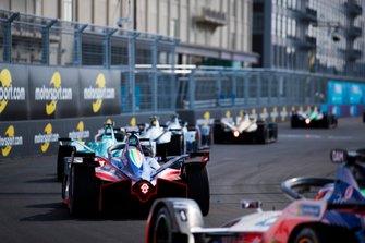 Oliver Turvey, NIO Formula E, NIO Sport 004, Pascal Wehrlein, Mahindra Racing, M5 Electro, Jérôme d'Ambrosio, Mahindra Racing, M5 Electro