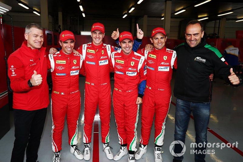#71 AF Corse Ferrari 488 GTE EVO: Davide Rigon, Miguel Molina and #51 AF Corse Ferrari 488 GTE EVO: Alessandro Pier Guidi, James Calado