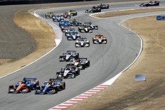 Alexander Rossi, Andretti Autosport Honda, Scott Dixon, Chip Ganassi Racing Honda start