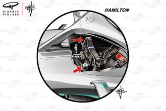 Mercedes AMG F1 W10, il volante di Lewis Hamilton