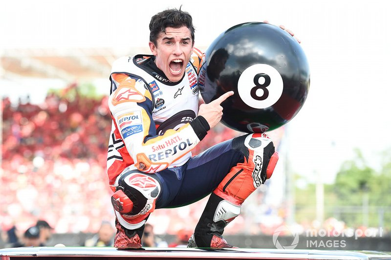 World Champion Marc Marquez, Repsol Honda Team celebrates