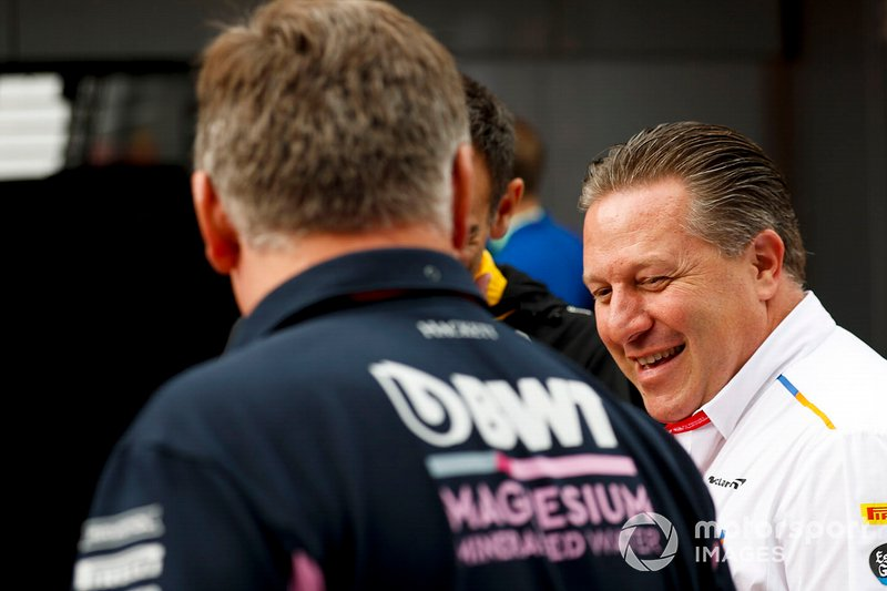 Zak Brown, Direttore Esecutivo, McLaren e Otmar Szafnauer, Team Principal e CEO, Racing Point