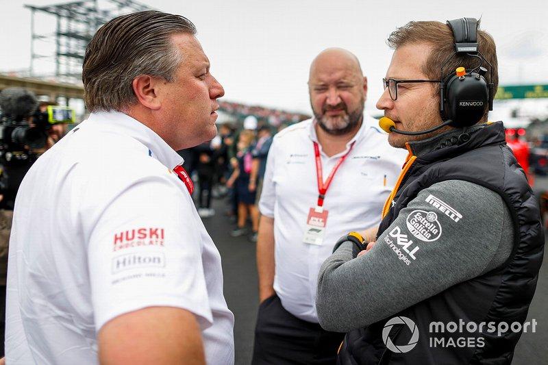 Zak Brown, Executive Director, McLaren, Andreas Seidl, Team Principal, McLaren